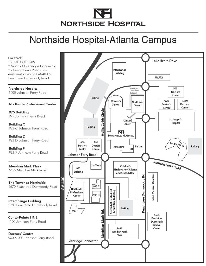 map-of-northside-atlanta-campus