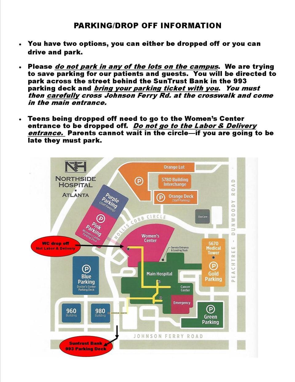 Teen Parking Map